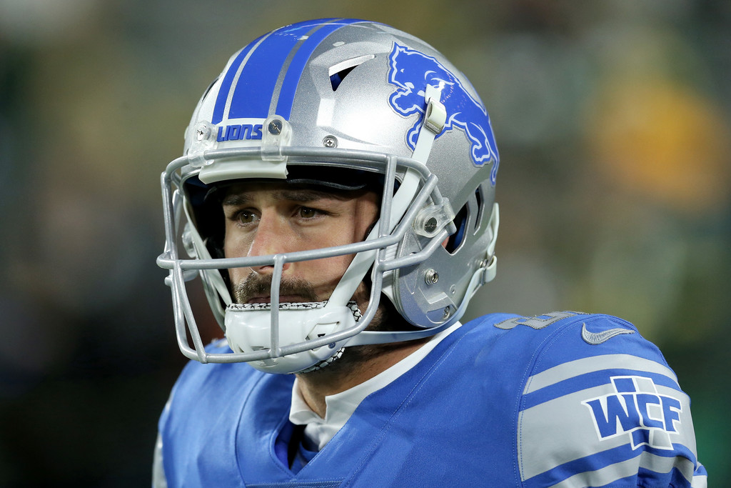 Detroit Lions wide receiver Danny Amendola warms up before the game against the Green Bay Packers