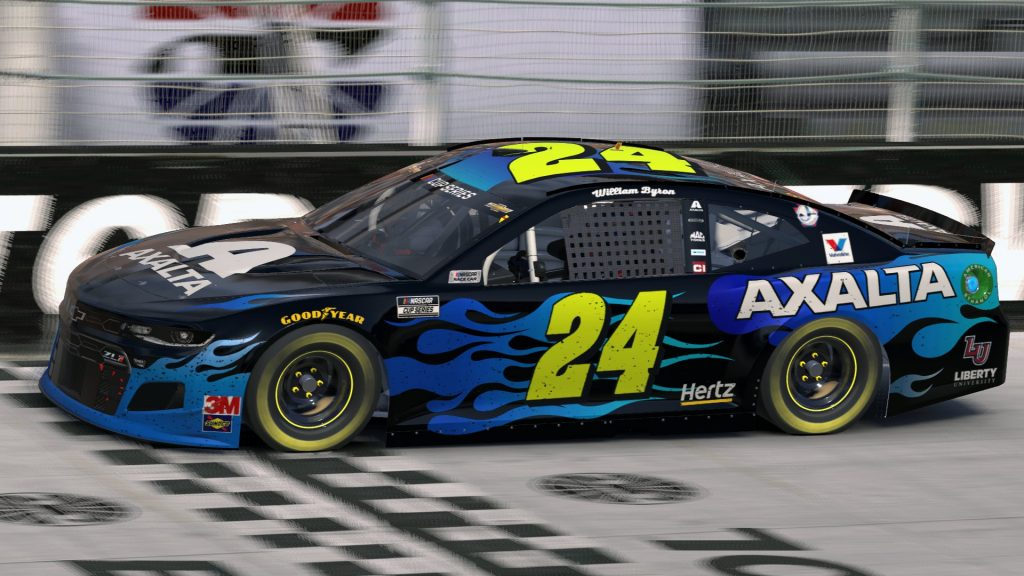 Virtual NASCAR Cup Series driver William Byron picked up the win at the virtual Food City Showdown