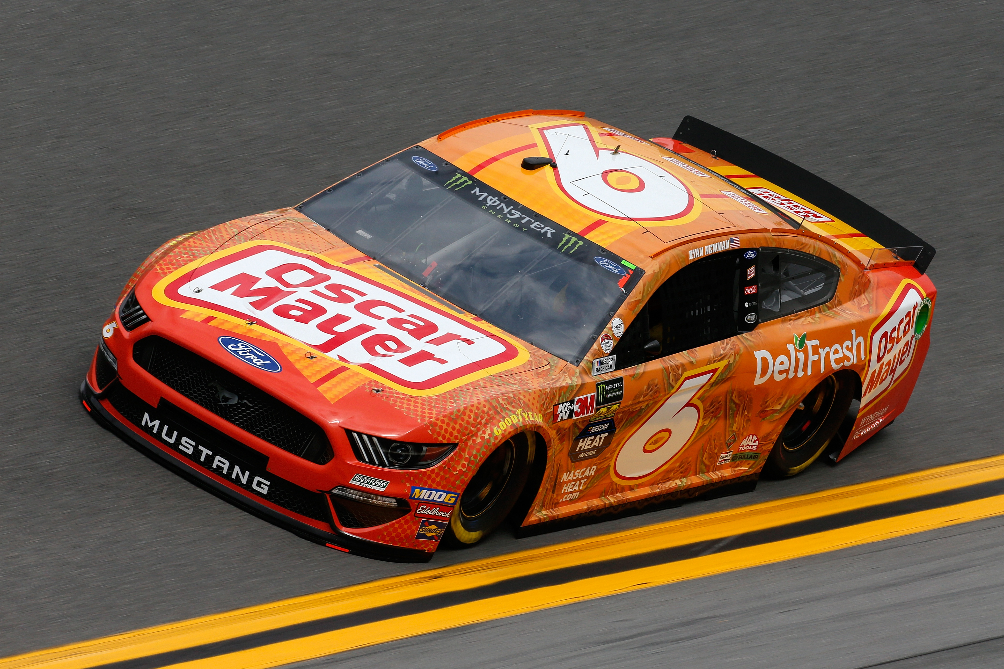 Roush Fenway Racing driver Ryan Newman driving during practice for the Monster Energy NASCAR Cup Series 61st Annual Daytona 500