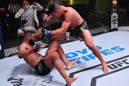 Burns stops returning Woodley at UFC on ESPN9