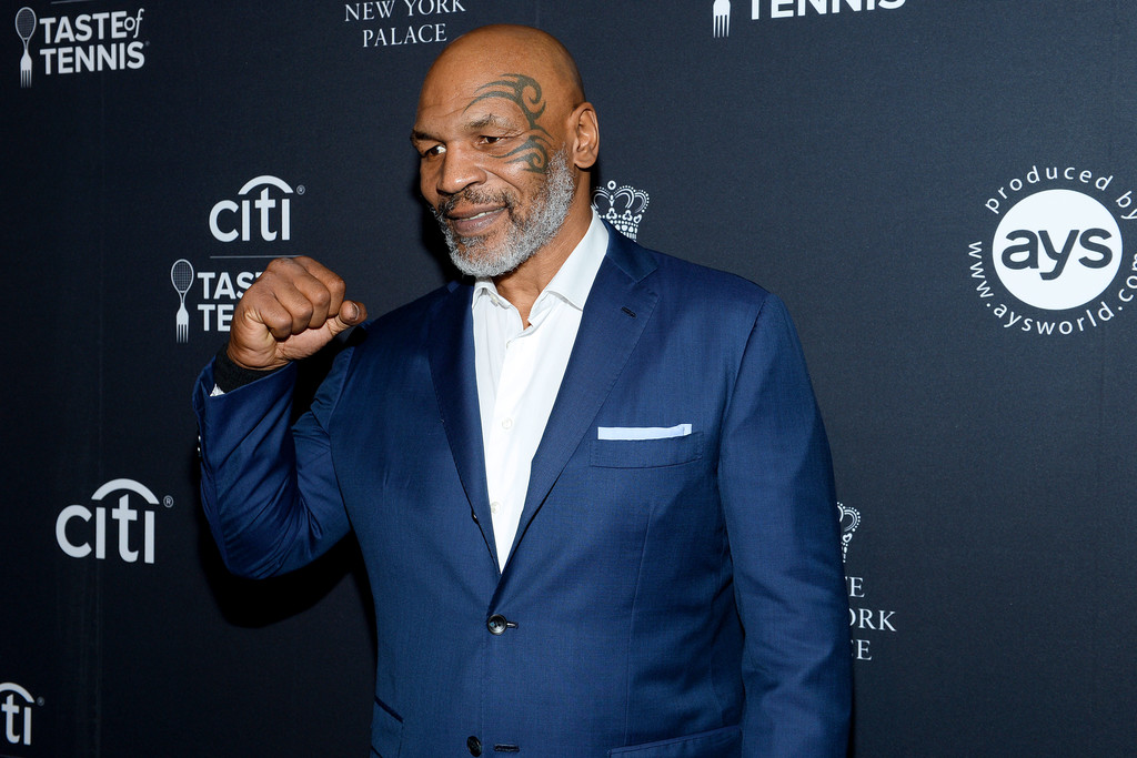Boxing legend Mike Tyson attends the Citi Taste of Tennis