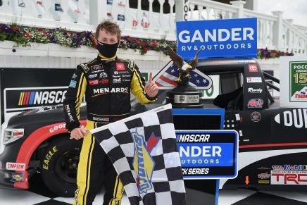 Brandon Jones wins first Truck Series race atPocono