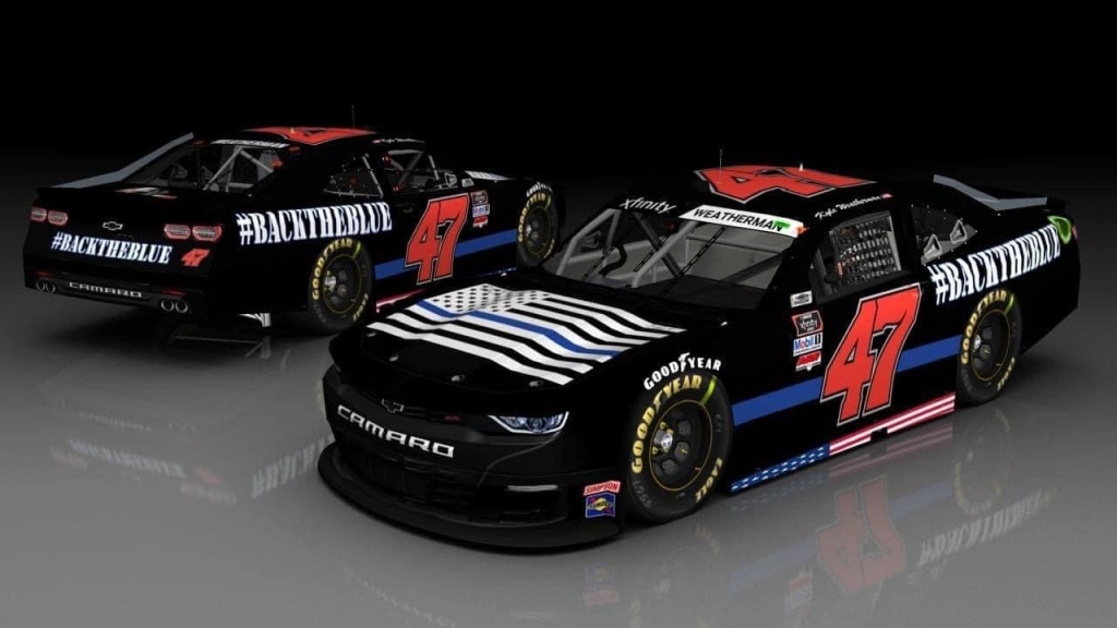 Mike Harmon Racing #BacktheBlue Car