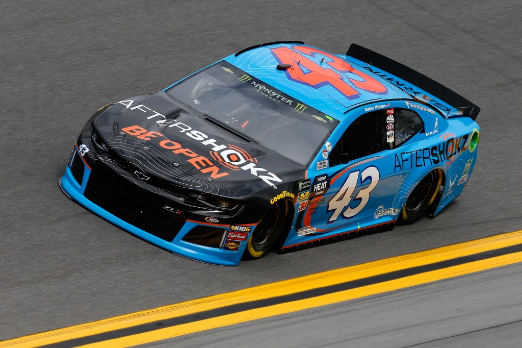Aftershokz Chevrolet driver Bubba Wallace during practice for the Monster Energy NASCAR Cup Series 61st Annual Daytona 500