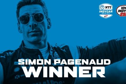 Pagenaud wins first race of the 2020 IndyCar season atIowa