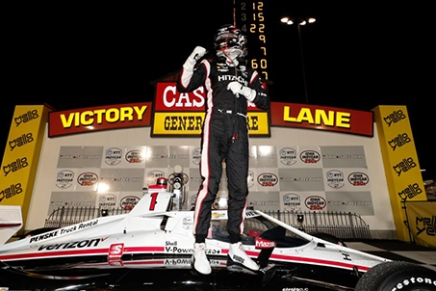Newgarden becomes first driver to win Iowa frompole