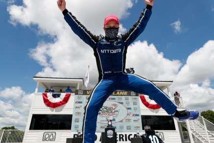 Rosenqvist wins for the first-time in IndyCar at RoadAmerica