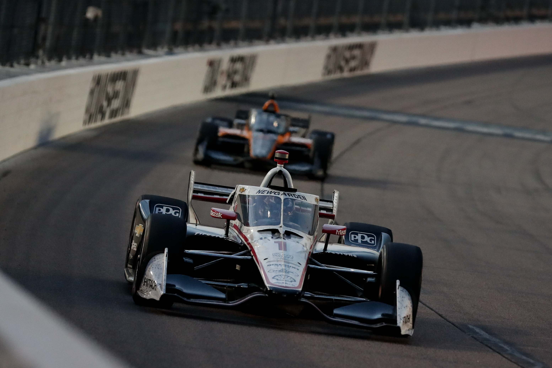 IndyCar driver Josef Newgarden during the Iowa INDYCAR 250s Race 2 at Iowa Speedway