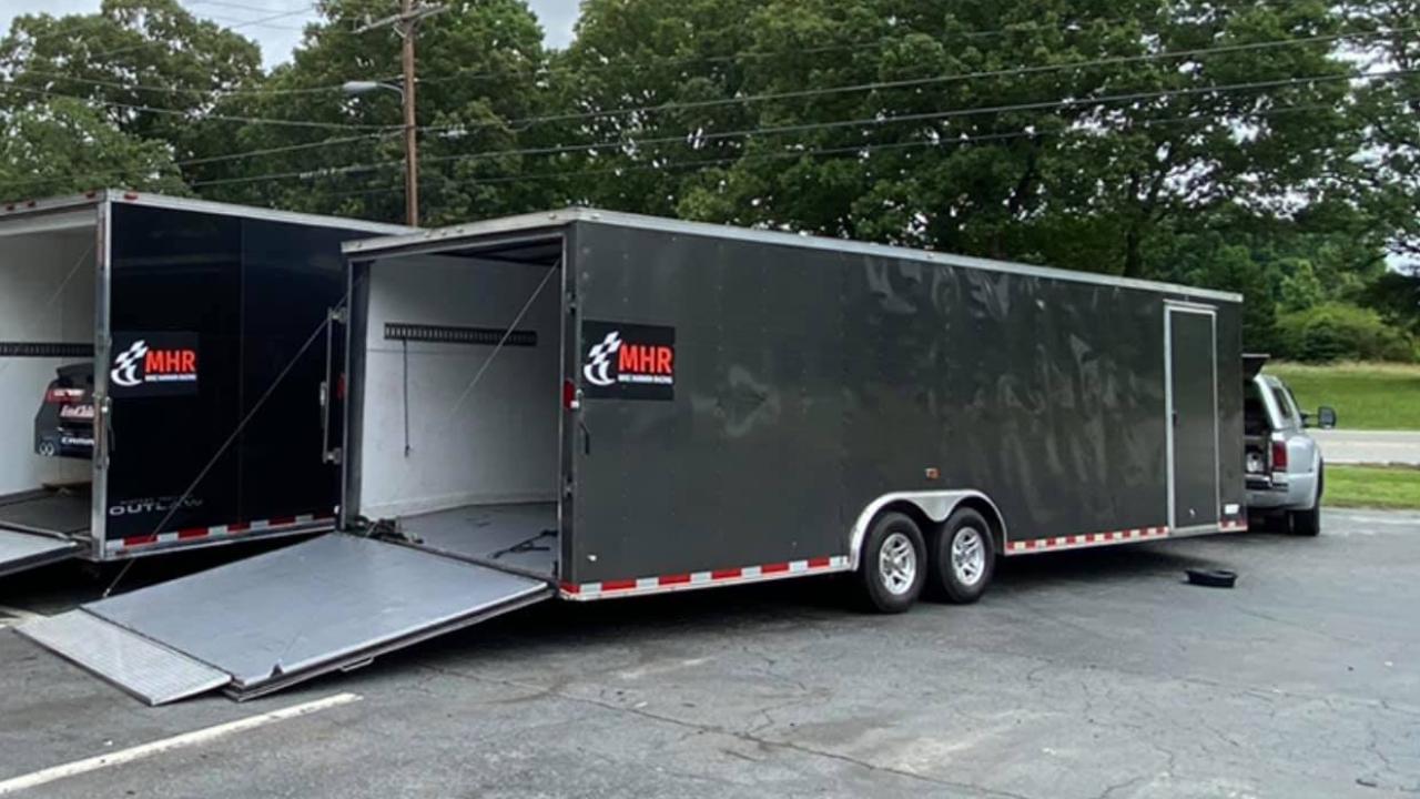 NASCAR team Mike Harmon Racing has had their racing equipment stolen