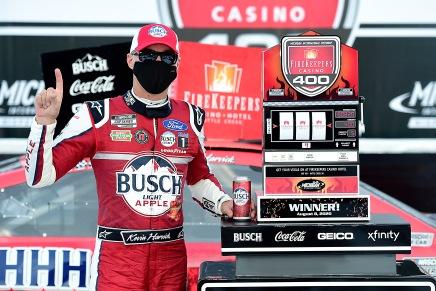 Harvick wins the 2020 FireKeepers Casino 400 atMichigan