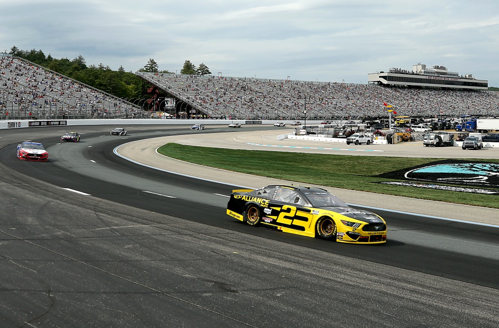 Western Star/Alliance Parts Ford driver Brad Keselowski races during the NASCAR Cup Series Foxwoods Resort Casino 301