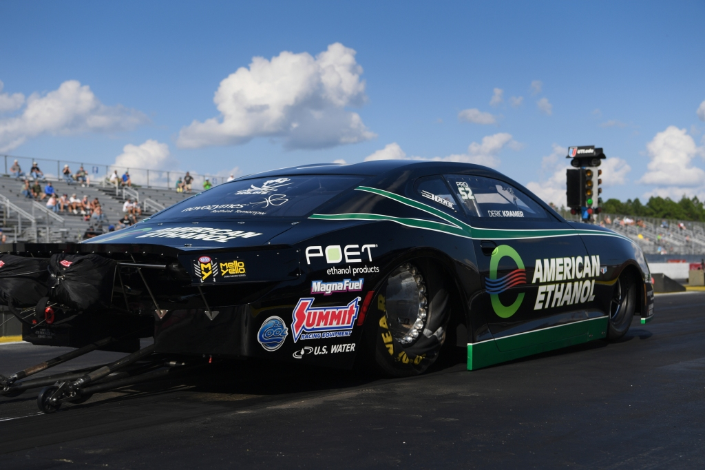 American Ethanol driver Deric Kramer racing on Saturday at the Amalie Motor Oil NHRA Gatornationals