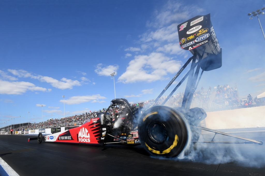 Mac Tools Top Fuel Dragster pilot Doug Kalitta racing on Sunday at the ninth annual Mopar Express Lane NHRA Midwest Nationals presented by Pennzoil