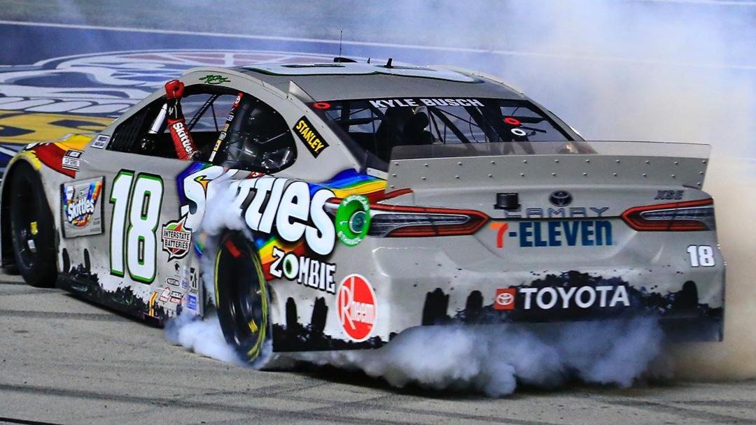 Kyle Busch wins long rain-delayed NASCAR playoff race in Texas