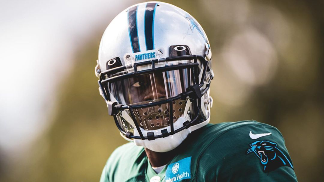 Carolina Panthers quarterback Teddy Bridgewater practices with his teammates on October 21st, 2020, as the team prepares for their road game against the New Orleans Saints