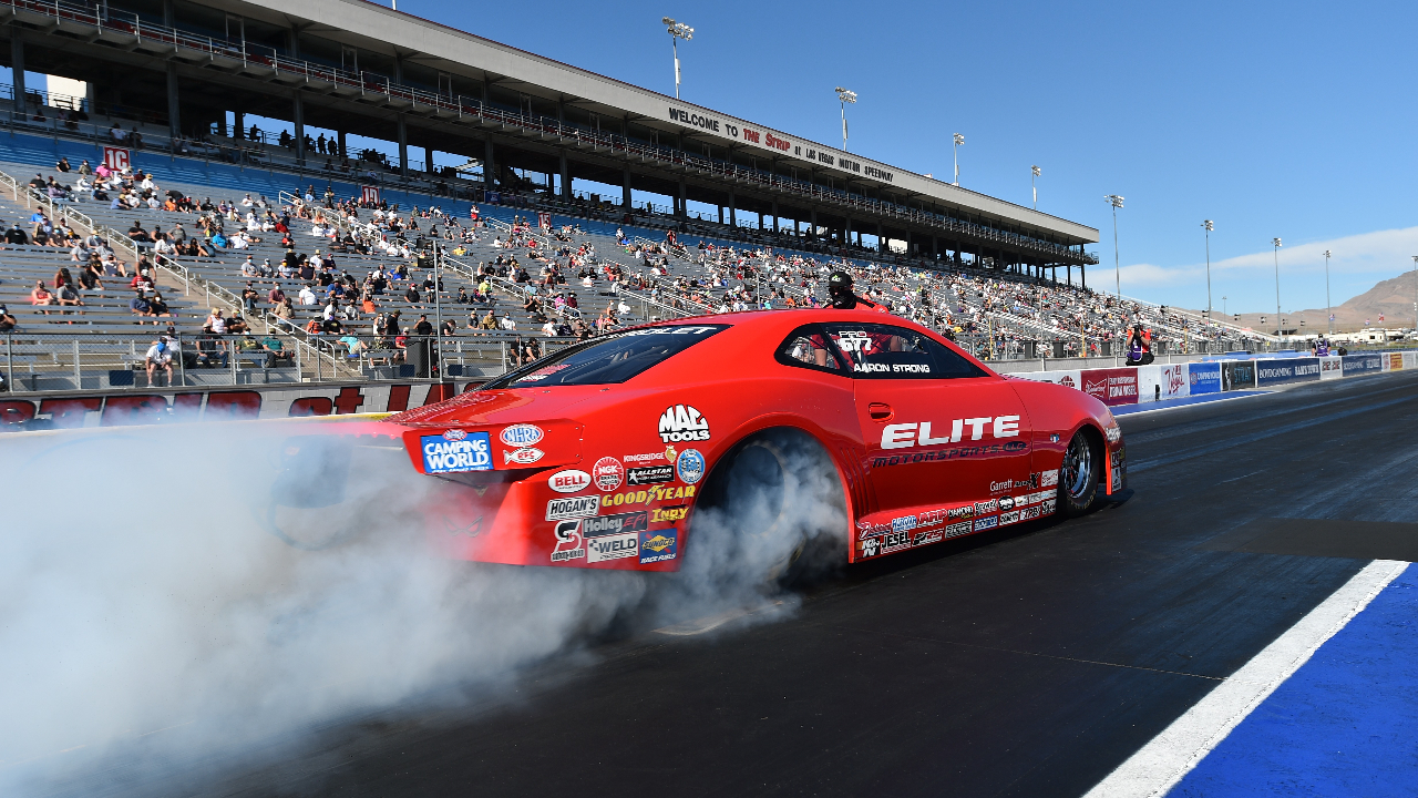Melling Performance/Elite Performance Pro Stock driver Erica Enders racing on Sunday at the 20th annual Dodge NHRA Finals presented by Pennzoil