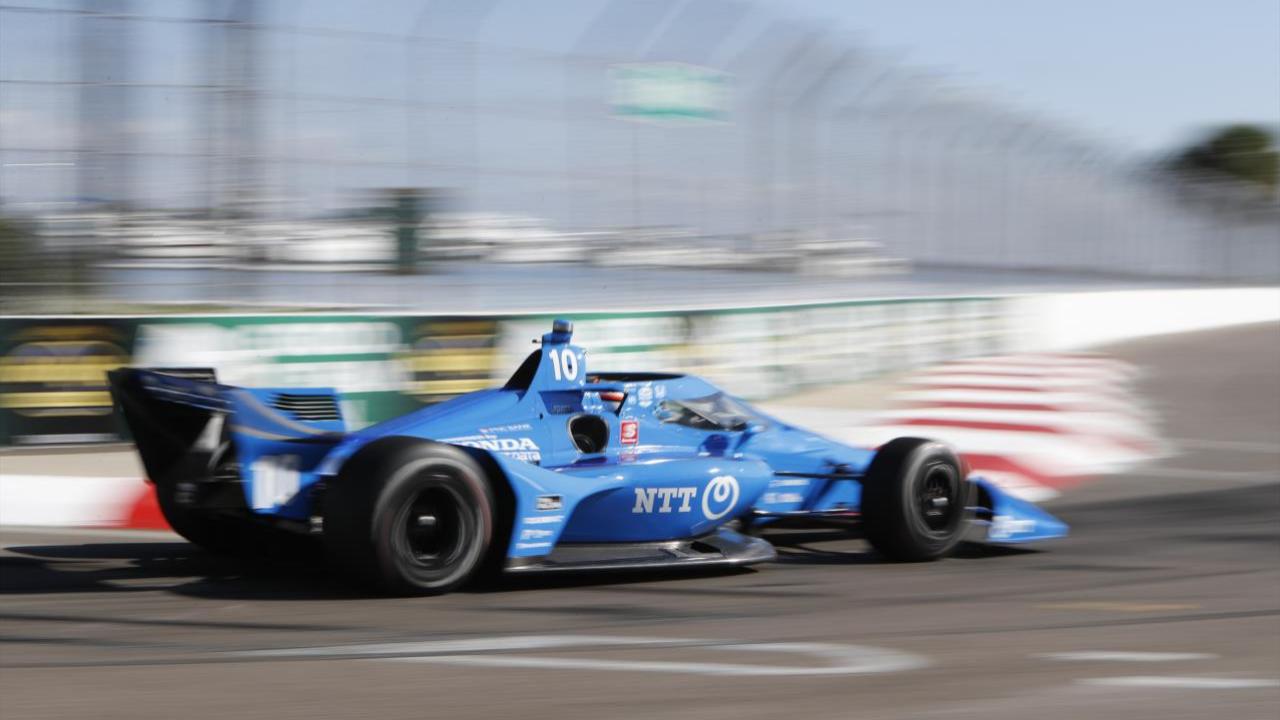 NTT Data Chip Ganassi Racing driver Felix Rosenqvist competes in the 2020 Firestone Grand Prix of St. Petersburg
