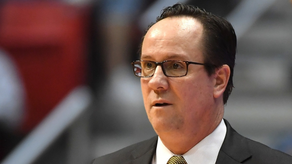 Wichita State Shockers men's basketball head coach Gregg Marshall looks on against the Marshall Thundering Herd during the first round of the 2018 NCAA Men's Basketball Tournament