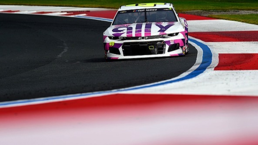 Hendrick Motorsports driver Jimmie Johnson competes in the Bank of America ROVAL 400