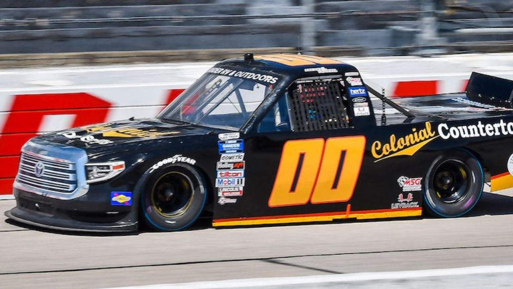 Josh Reaume Racing driver Josh Reaume drives the Colonial Countertops Rusty Wallace Throwback wrap at the South Carolina Education Lottery 2020