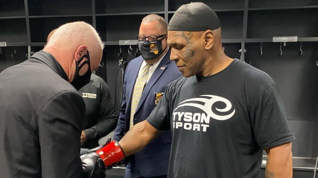 Boxing legend Mike Tyson prepares for his exhibition fight against Roy Jones Jr.