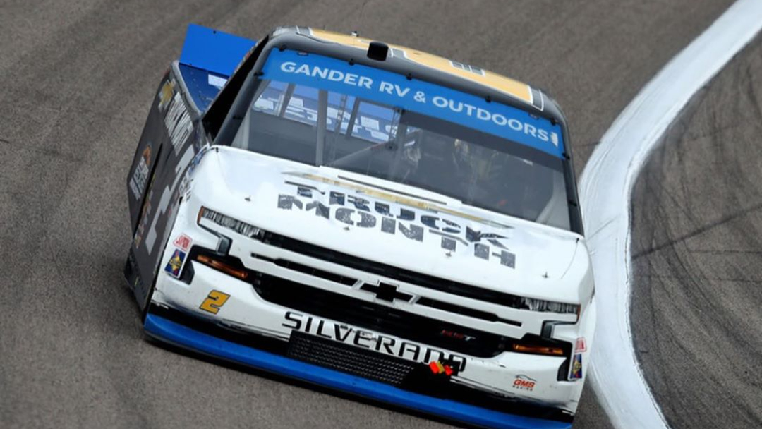 GMS Racing Truck Series driver Sheldon Creed racing in the Clean Harbors 200