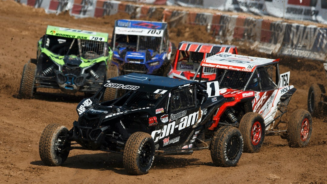 Can-Am driver Corry Weller competes in a Lucas Oil Off Road Racing Series event