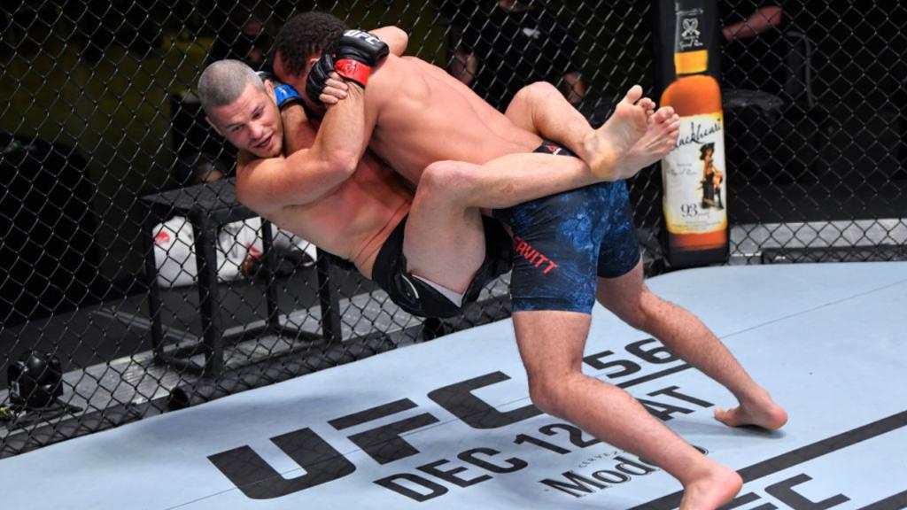 UFC newcomer Jordan Leavitt slams Matt Wiman for an impressive knockout