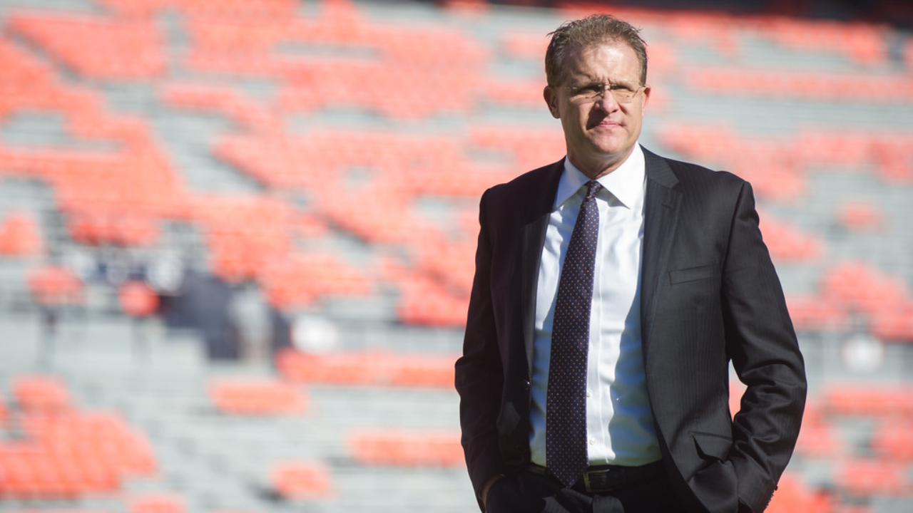 Former Auburn Tigers head coach Gus Malzahn looks on prior to their game against the Tennessee Volunteers