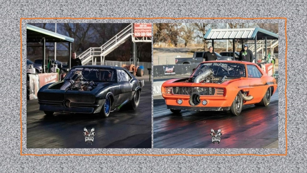 Pictures of both of Street Outlaws driver James Goad's cars that were burnt in a fire coming back from Xtreme Raceway Park