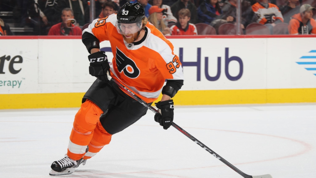 Philadelphia Flyers forward Jakub Voracek skates against the Colorado Avalanche