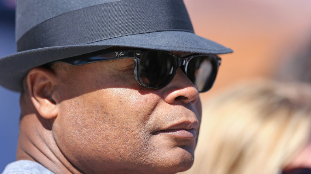 Former Chicago Bears great Mike Singletary looks on before an NFL game between the Bears and the Buffalo Bills