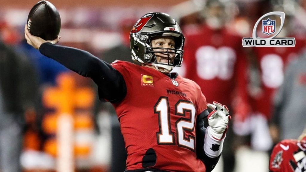 Tampa Bay Buccaneers quarterback Tom Brady attempts a pass against the Washington Football Team