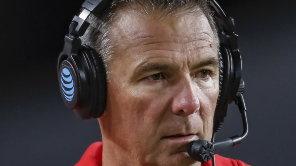 Former Ohio State Buckeyes head coach Urban Meyer looks on during their game against the Purdue Boilermakers