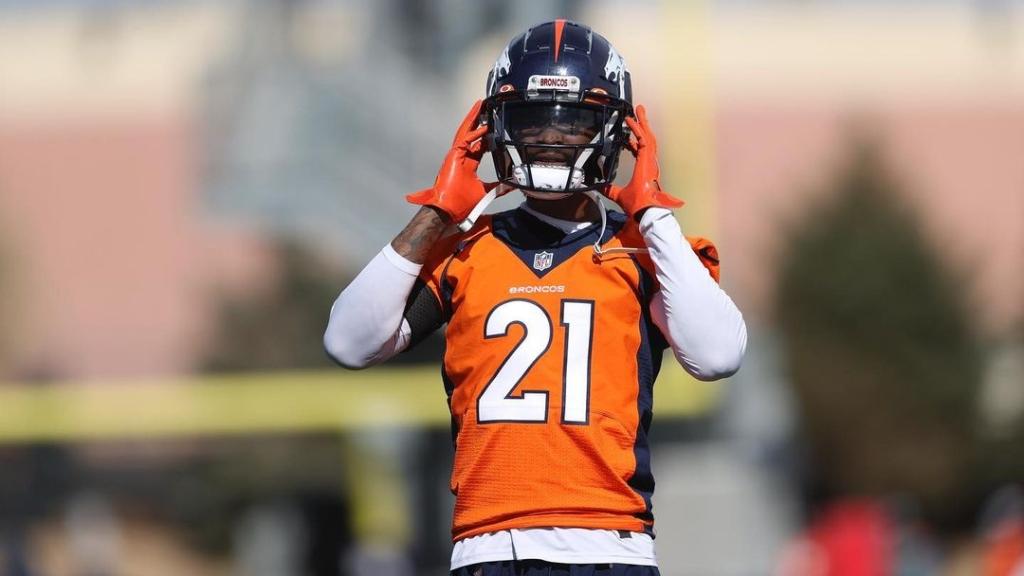 Former Denver Broncos cornerback A.J. Bouye puts his helmet on during practice on Wednesday, October 21st, 2020, at UC Health Training Center