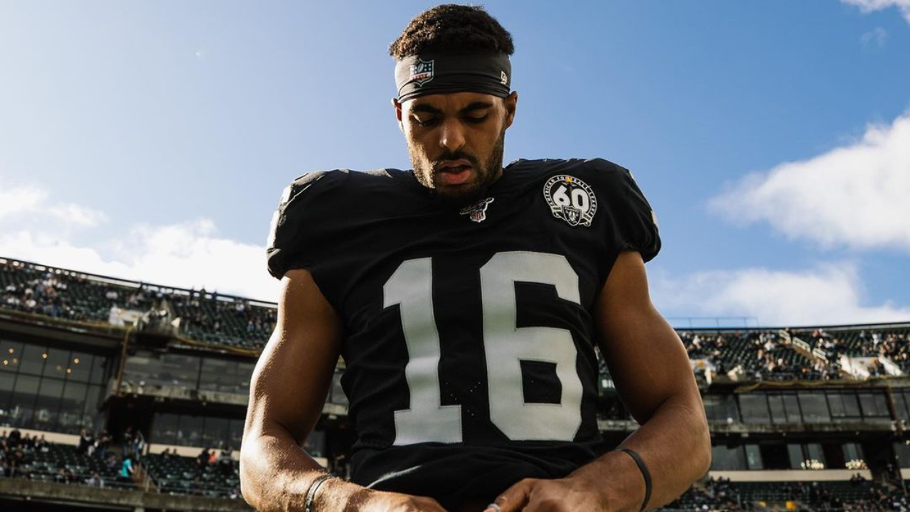 Former Las Vegas Raiders wide receiver Tyrell Williams during the 2019 season in an undated photo