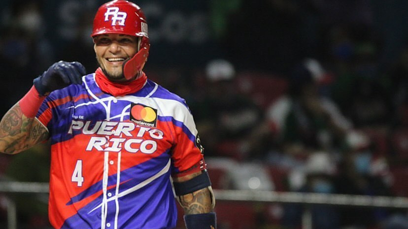St. Louis Cardinals catcher Yadier Molina playing in the Caribbean Series