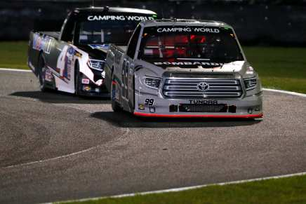 Rhodes is third driver to win first two Truck Series events to begin aseason