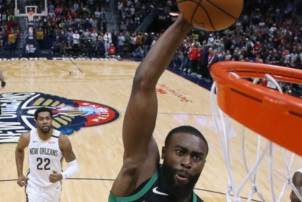 Celtics GM Ainge concerned about Jaylen Brown's tendinitis