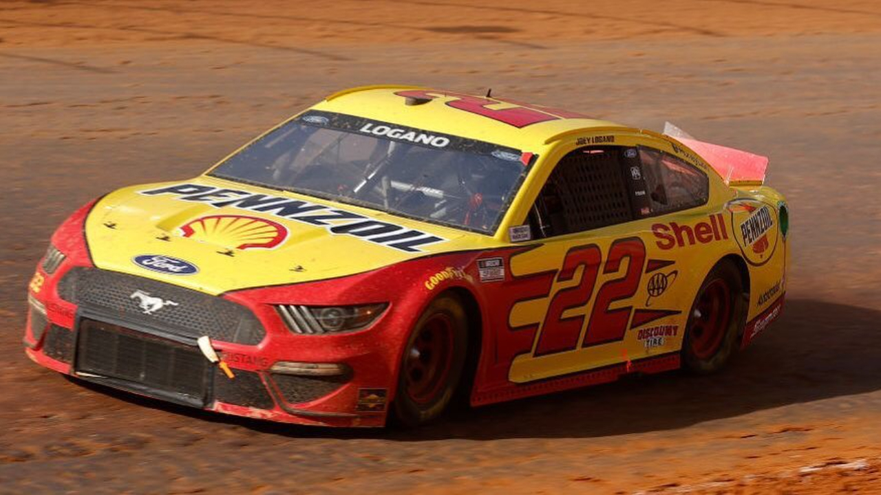 Shell and Pennzoil sponsored driver Joey Logano wins the first Food City Dirt Race