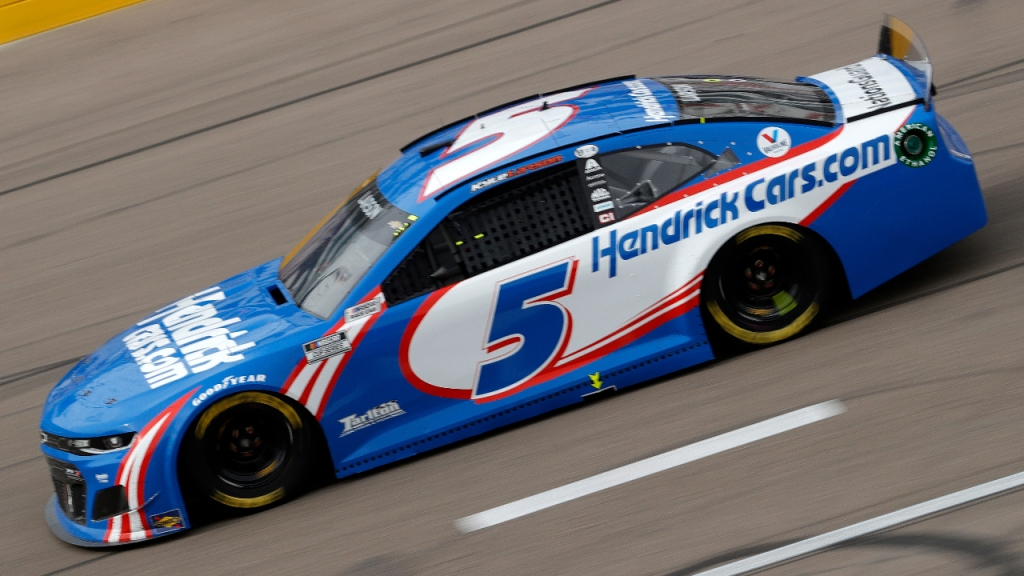 HendrickCars.com Chevrolet driver Kyle Larson drives during the NASCAR Cup Series Pennzoil 400 presented by Jiffy Lube