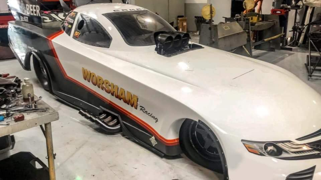 Funny Car pilot Del Worsham will make his Funny Car Chaos debut in his Worsham Family Racing entry at the Nitro Madness at the Motorplex