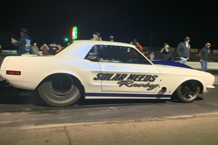 Street Outlaws' Brandon James crashes during inaugural America's Listrace